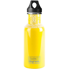 360° degrees Stainless Drink Bottle 0.5 l, yellow
